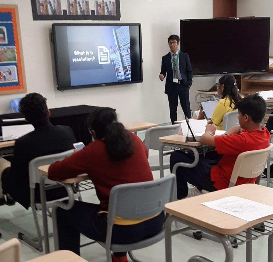 mohammad amaan siddiqui workshop at gems new millennium school dubai mun