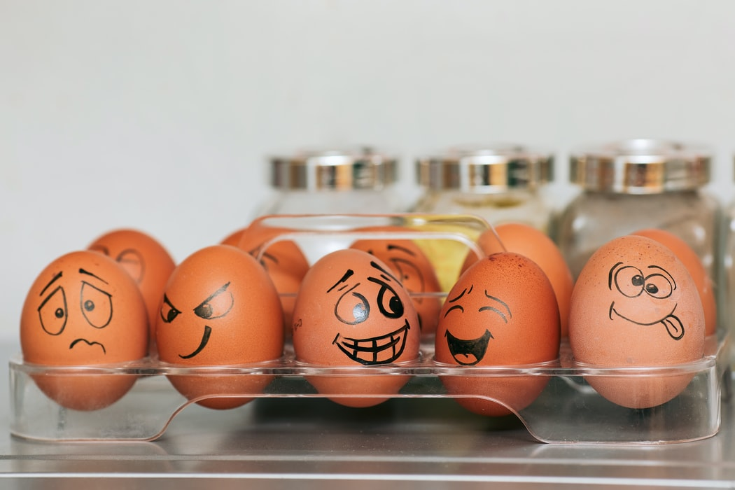 eggs with different moods